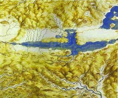 Val di Chiana seen by Leonardo da Vinci